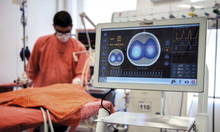 Tomógrafo desenvolvido por empresa paulista auxilia médicos de hospital da Universidade Harvard a adotar estratégias de ventilação mecânica individualizadas