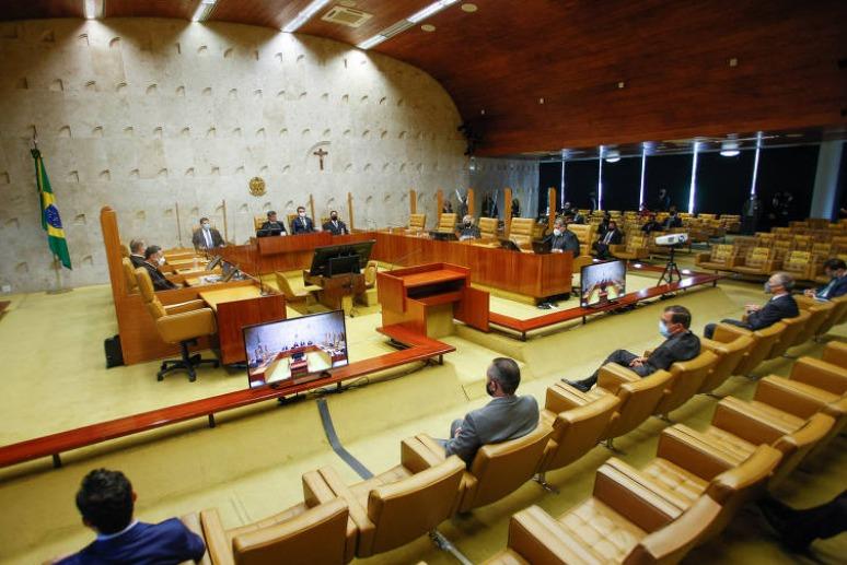 Sessão solene de abertura do ano judiciário de 2021, realizada em formato híbrido em 1º de fevereiro de 2021