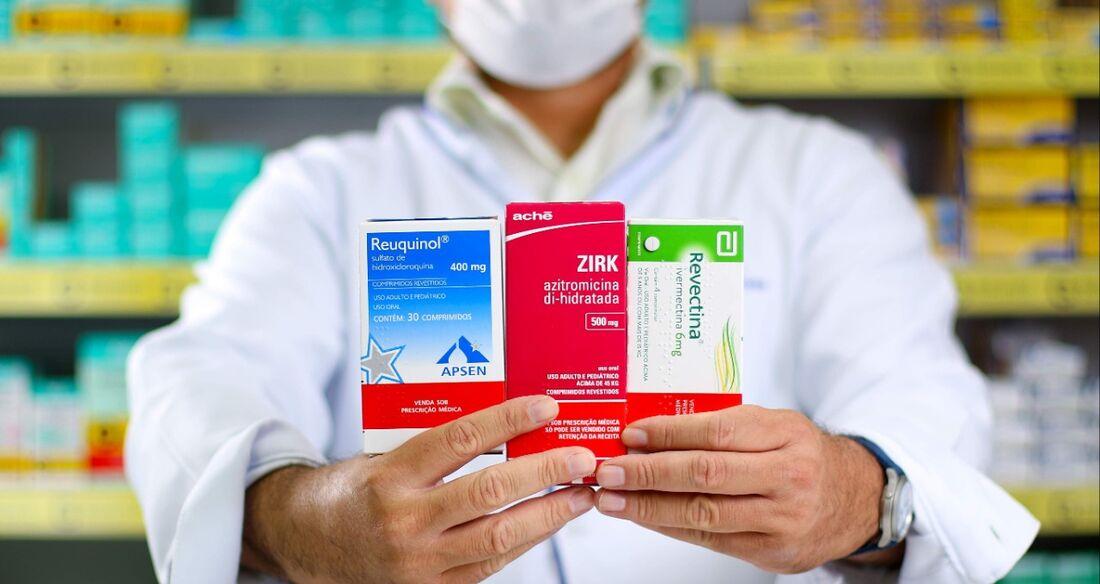 Medicamentos do kit Covid