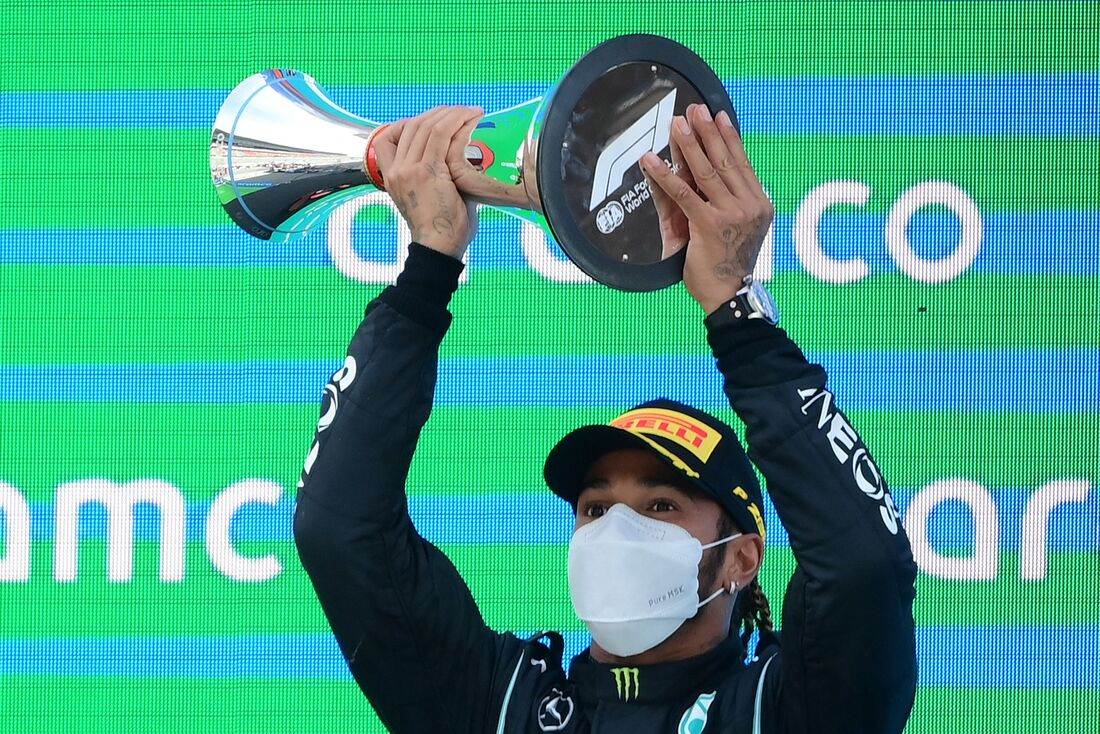 Lewis Hamilton, da Mercedes, ganhou o GP da Espanha