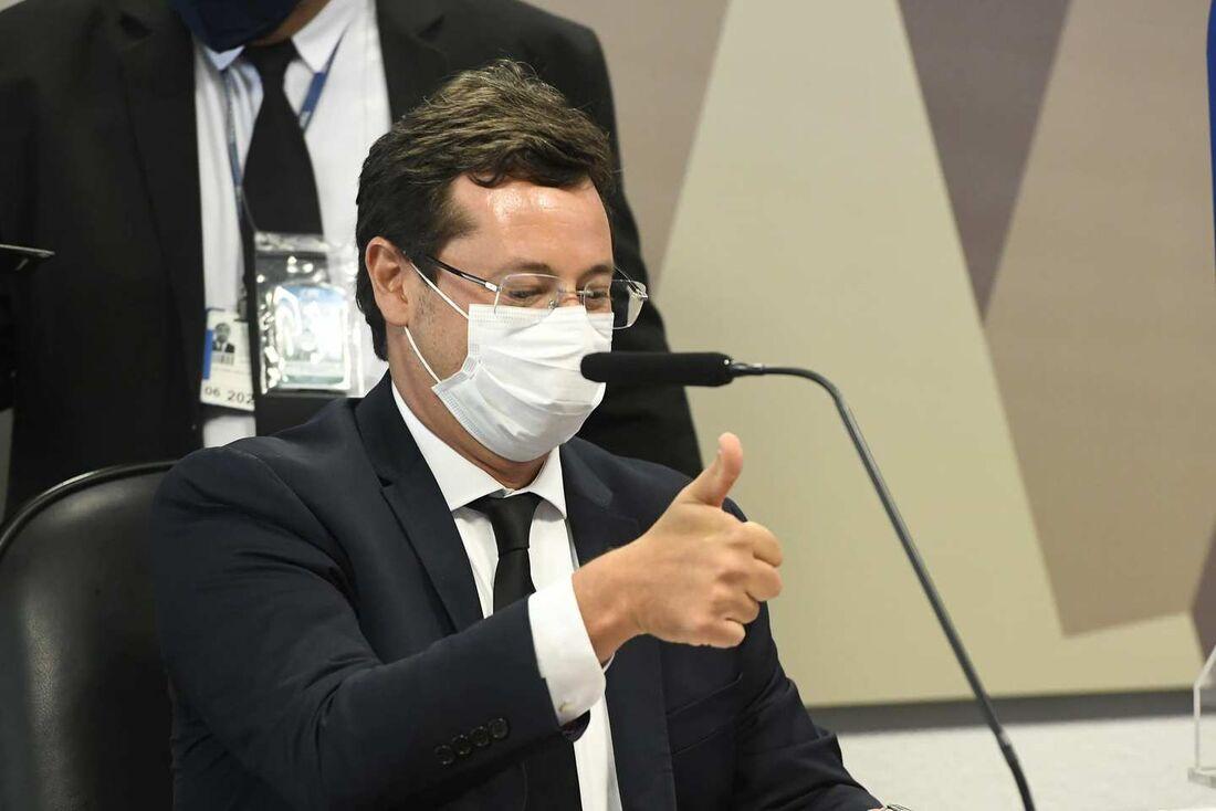 Fabio Wajngarten foi criticado por senadores ao cair em contradições