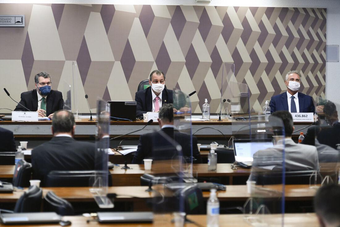 Comissão Parlamentar de Inquérito da Pandemia desta terça (18) com o ex-chanceler, Ernesto Araújo