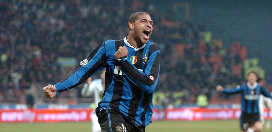 Adriano, na época em que jogou pela Inter