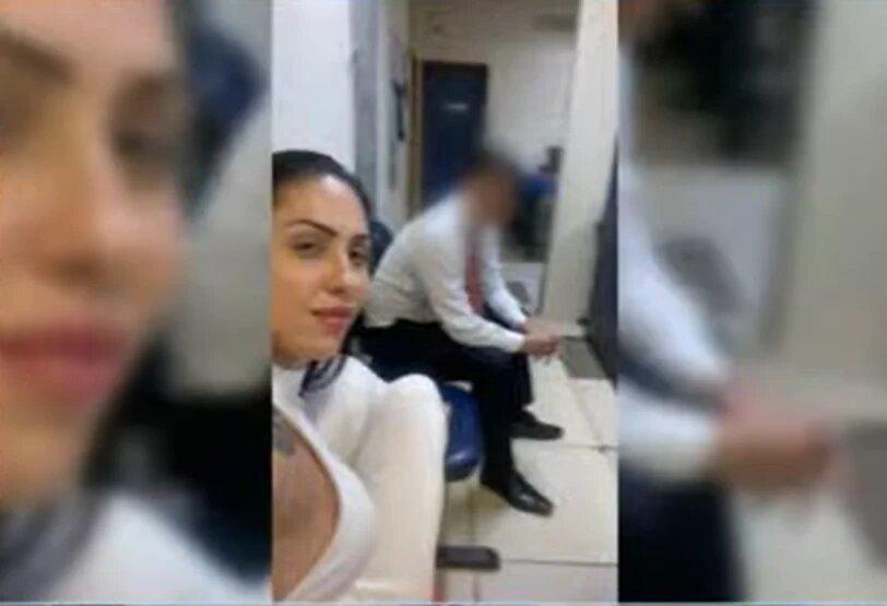 Monique Medeiros tirou a foto na delegacia nove dias após a morte do filho, Henry