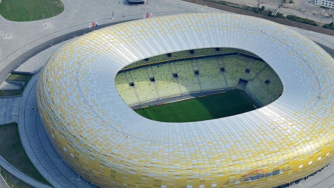 Estádio Energa Gdansk, na Polônia, palco da final da Liga Europa 2020/2021