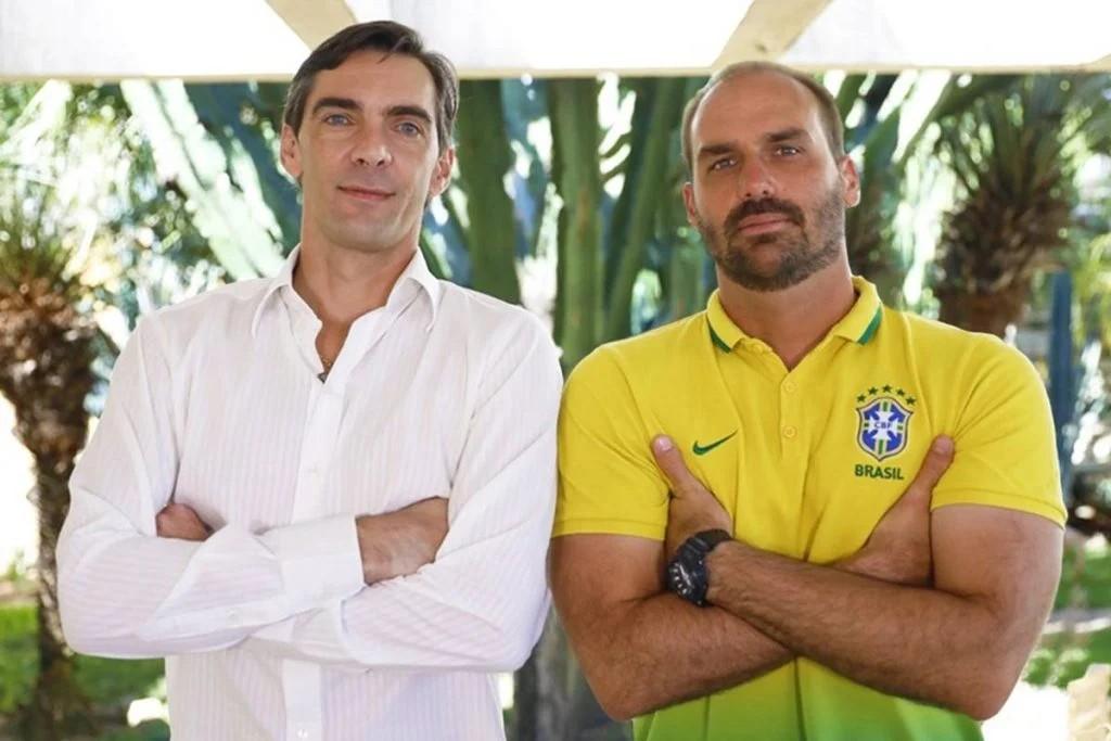 Giba e Eduardo Bolsonaro