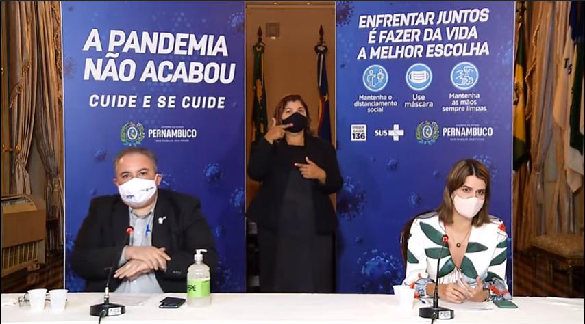 Coletiva do Governo do Estado de Pernambuco com André Longo e Ana Paula Vilaça