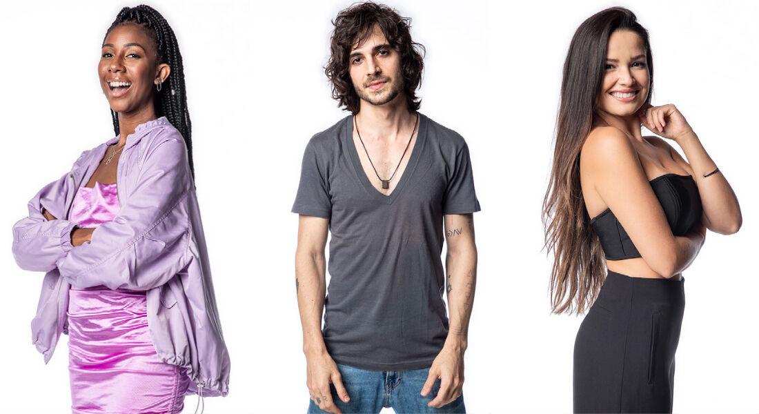 Os finalistas do BBB 21, Camilla, Fiuk e Juliette