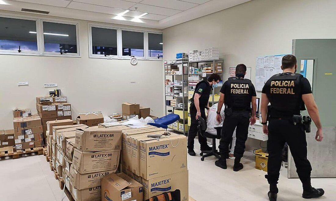 De acordo com a PF, cerca de 20 policiais federais participaram da operação, que teve apoio do Ministério Público Federal