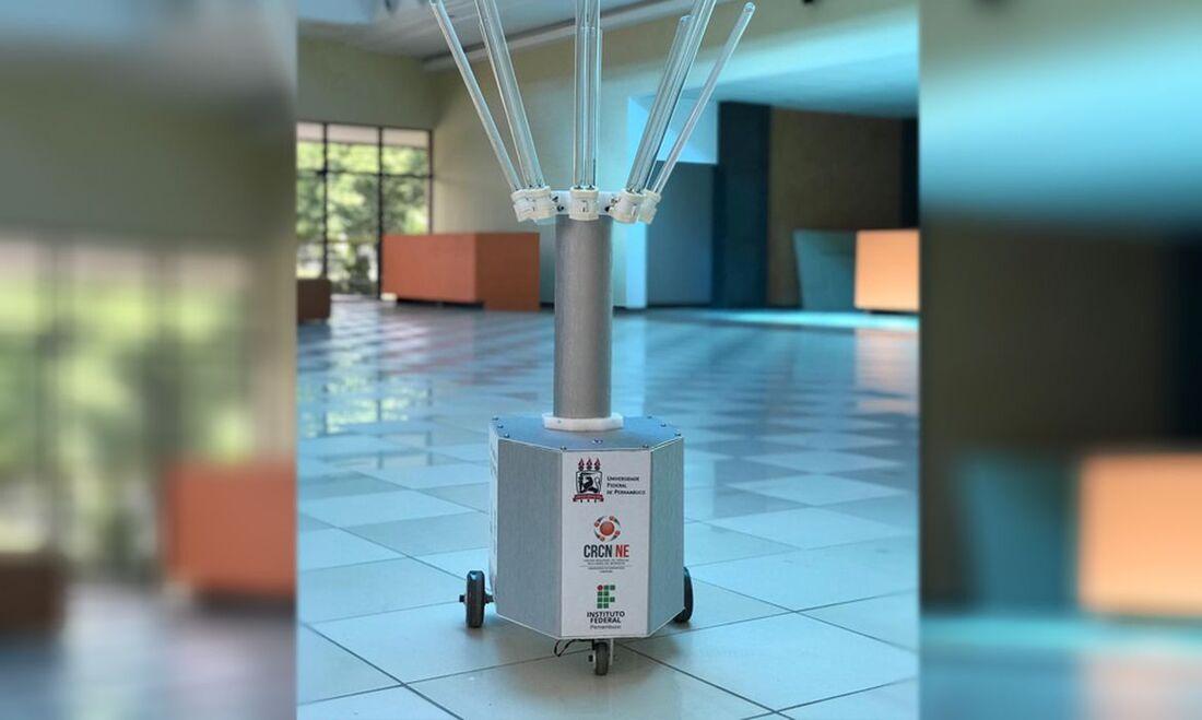 Robô Aurora está na fase de testes no Hospital das Clínicas da Universidade Federal de Pernambuco (UFPE)