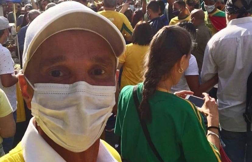Netinho, cantor, em ato pró-Bolsonaro neste domingo (1)