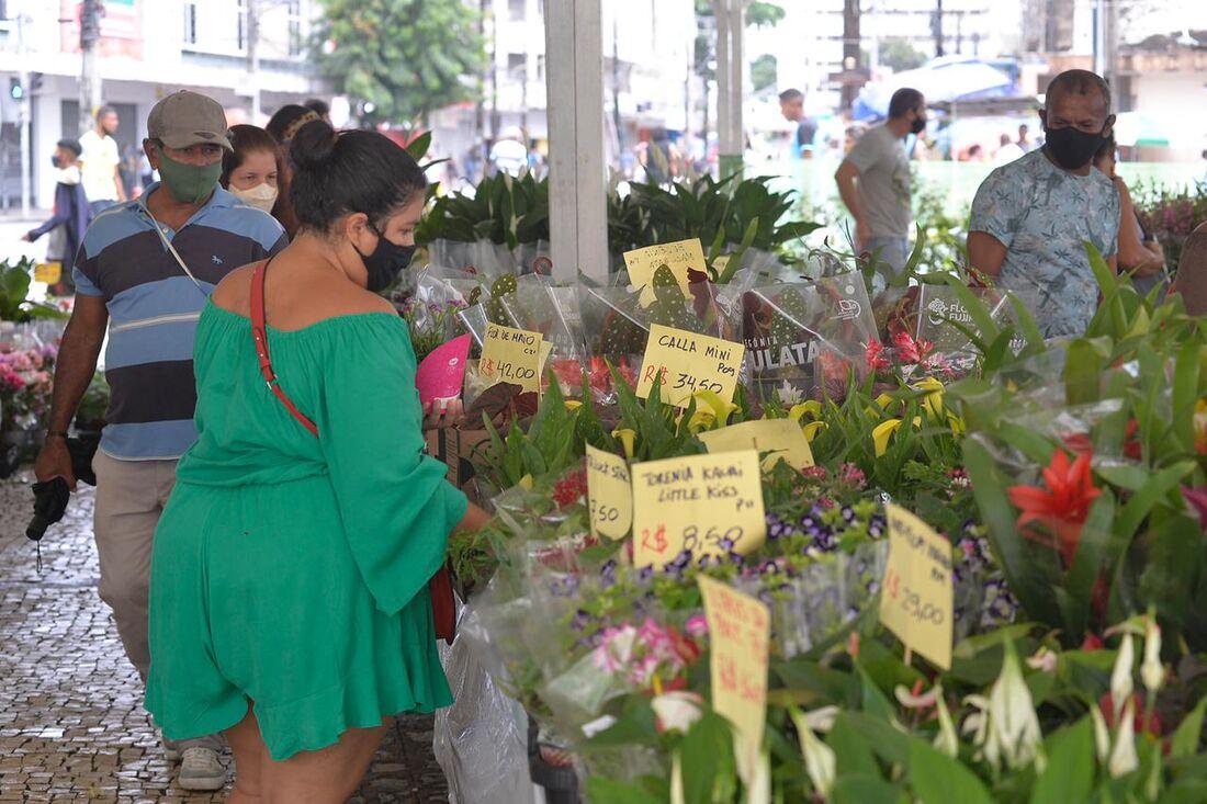 Festival de Flores de Holambra, que acontece no Pátio do Carmo, área central do Recife