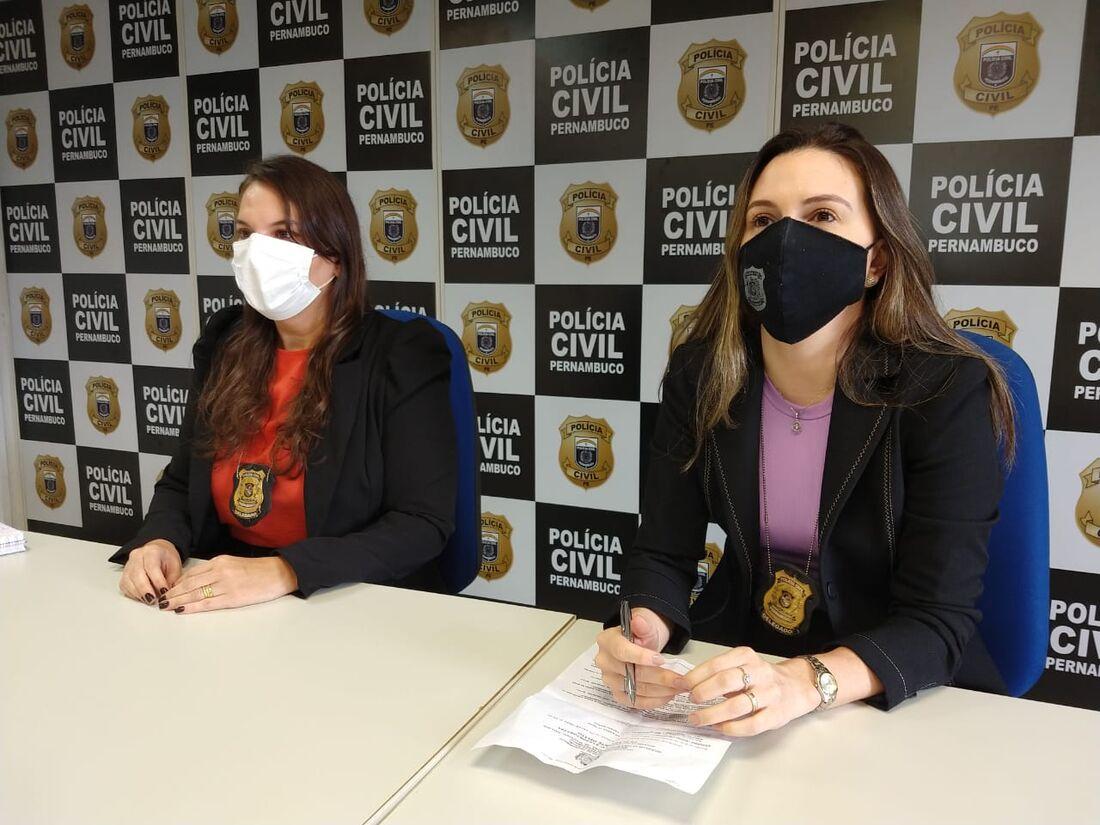Delegadas apresentaram a prisão em coletiva, no Recife