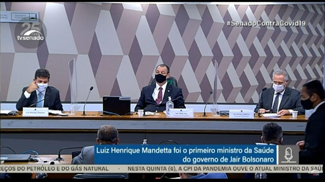Omar Aziz, na CPI da pandemia, ouve o ex-ministro Mandetta