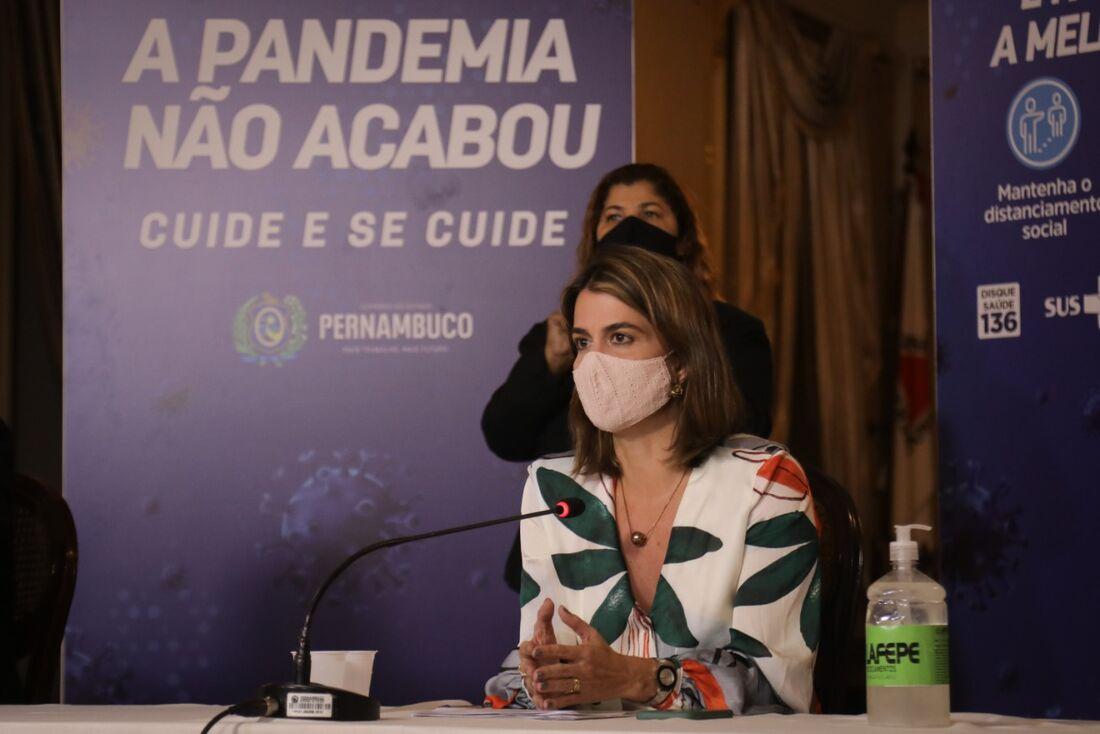 Coletiva do Governo do Estado de Pernambuco com Ana Paula Vilaça