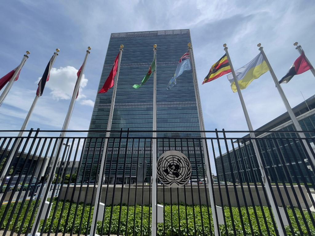 Prédio da ONU no East Side de Manhattan, na cidade de Nova York