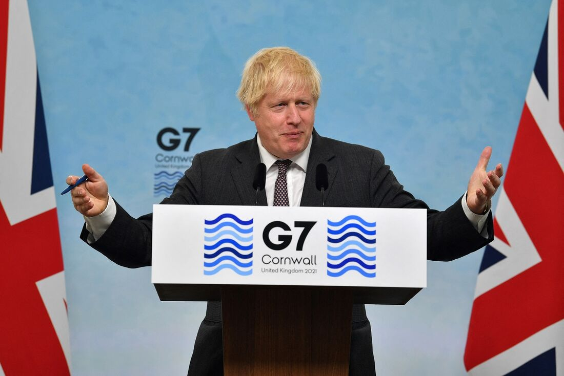 Primeio-ministro inglês, Boris Johnson