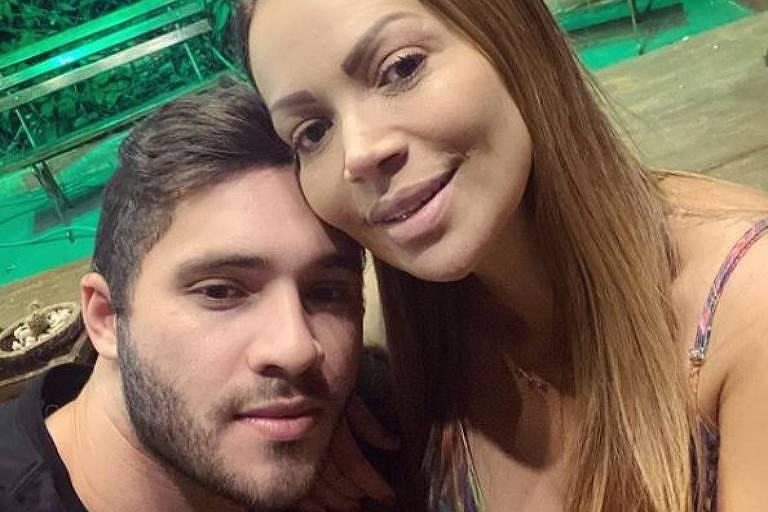 Solange Almeida e o marido, Monilton Moura
