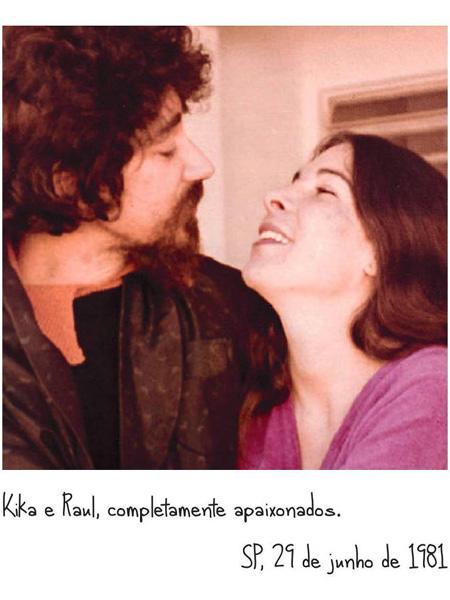 Raul e Kika Seixas em foto do livro 'Coisas do Coração', dela e de Toninho Buda