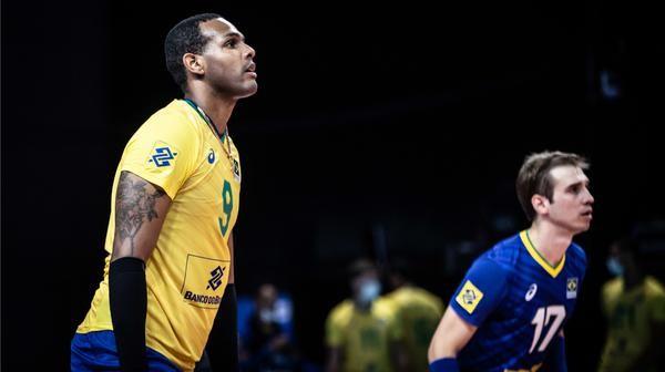 Leal, ponteiro da seleção brasileira de vôlei