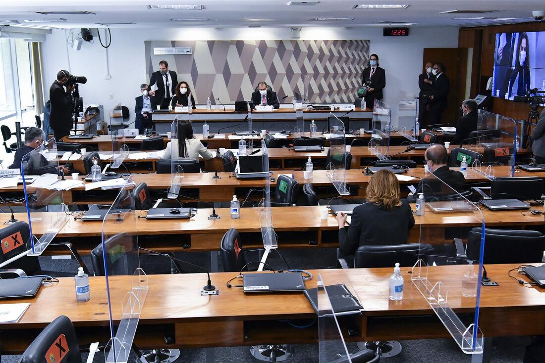 Senado durante sessão da CPI do Covid-19