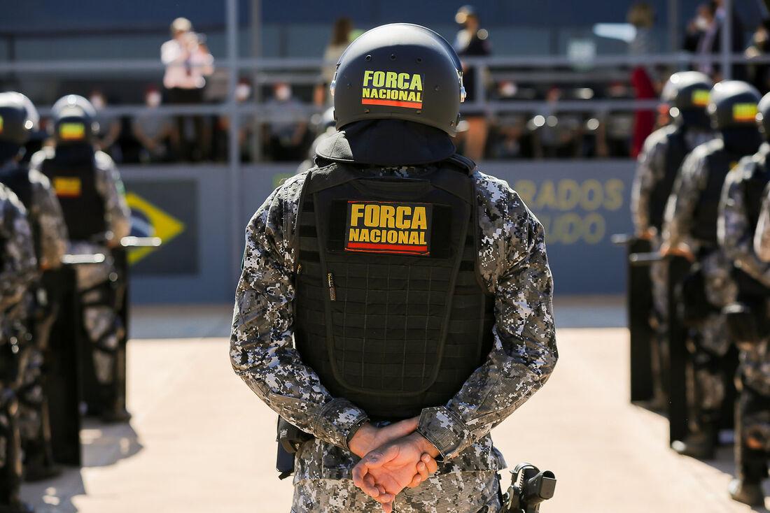 Os bens fazem parte do acervo da Força Nacional de Segurança Pública