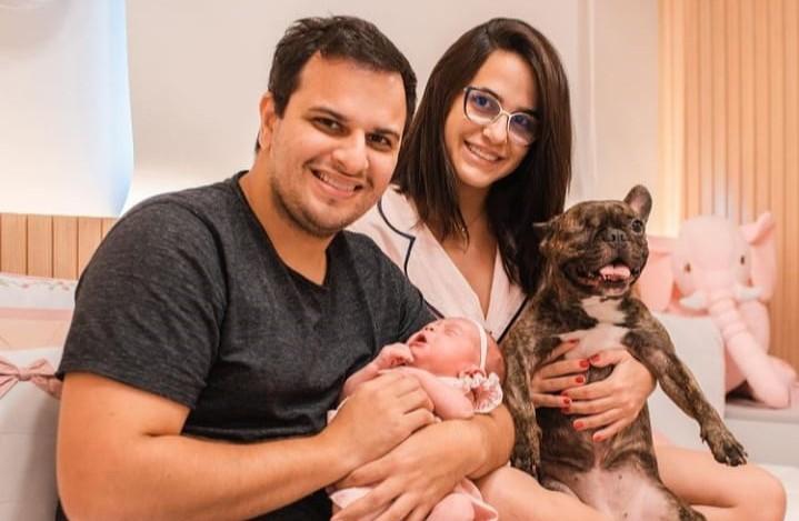 Antonio Carlos Filho e Anna Carla Calazans são pais da pequena Anna Carolina Calazans