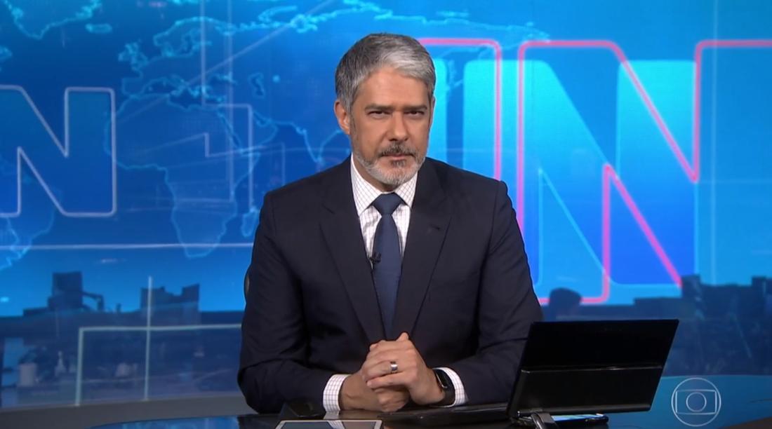 O apresentador do Jornal Nacional William Bonner, 57