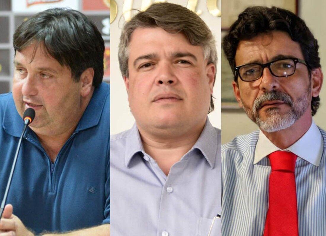 Nelo Campos, Delmiro Gouveia e Eduardo Carvalho disputaram a última eleição do clube