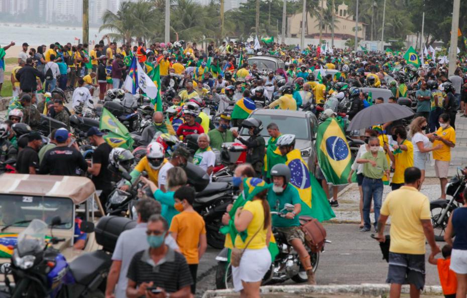 Concentração da Motociata na beira mar de Piedade em apoio ao Presidente Bolsonaro