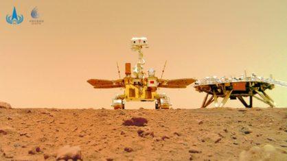 O robô Zhurong pousou em Marte em maio