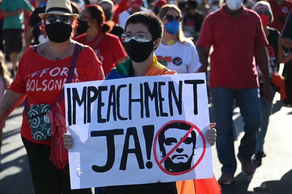Protesto contra presidente Bolsonaro