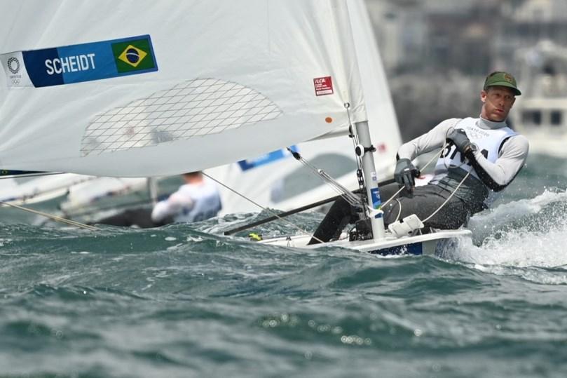 Scheidt em ação nos Jogos Olímpicos