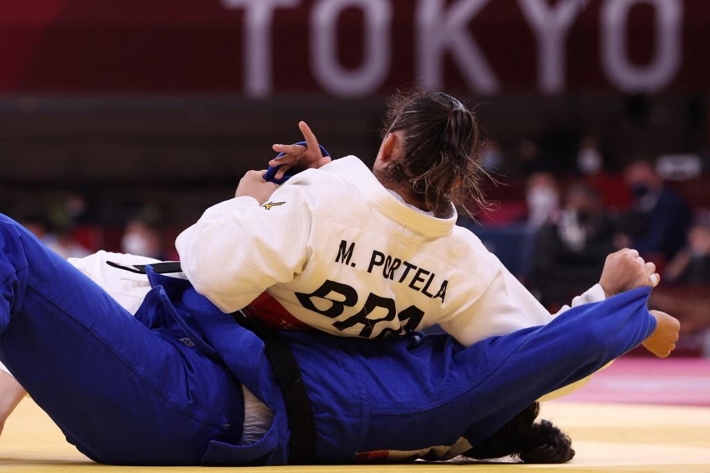 Maria Portela, judoca brasileira, estreou com vitória em Tóquio