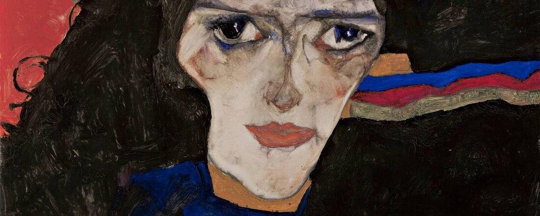 'Mourning Woman', pintura do austríaco Egon Schiele