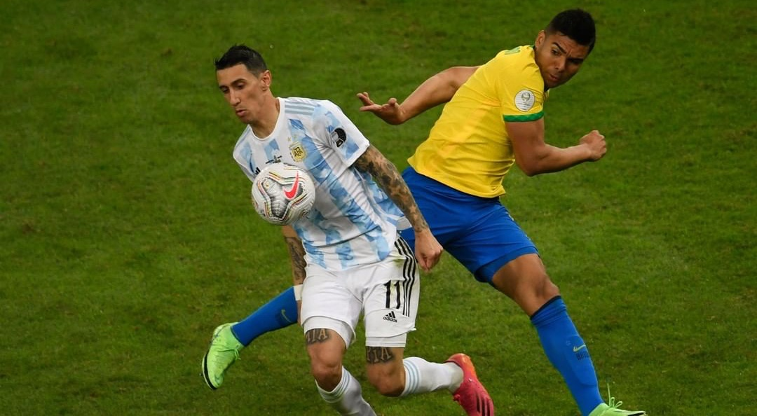 Di María for o autor do único gol da partida que levou a Argentina ao título da Copa América