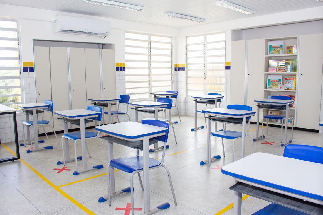 Sala de aula da Rede Municipal de Ensino do Recife