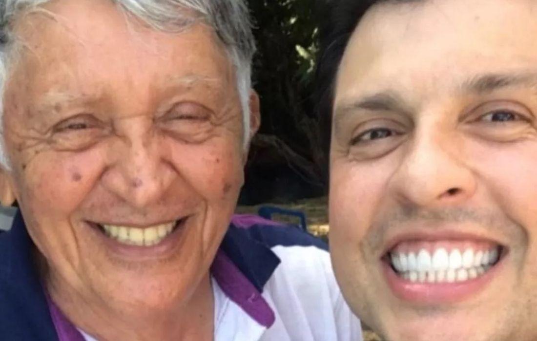 Humorista Wellington Muniz e seu pai, Ari