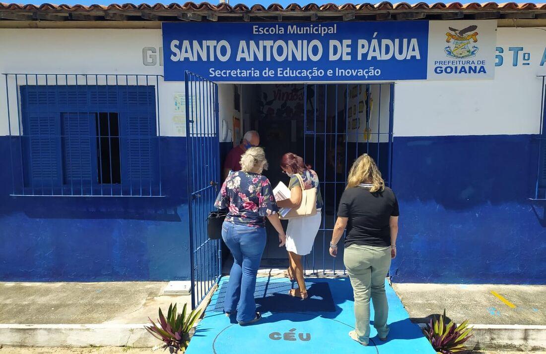 Escola Municipal Santo Antônio de Pádua, em Goiana
