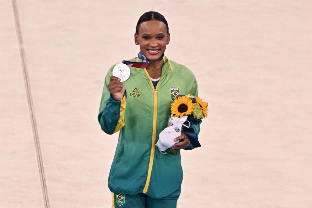 Rebeca Andrade, ginasta brasileira e medalhista de prata dos Jogos de Tóquio 2020