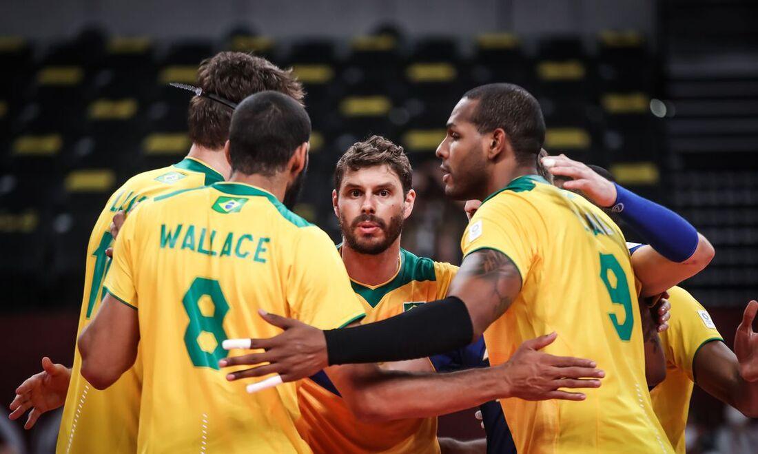 Seleção masculina de vôlei venceu a Tunísia por 3 sets a 0