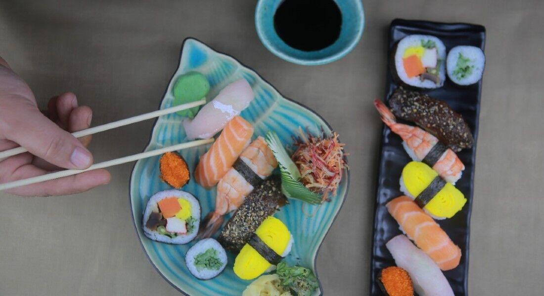 Combinado de sushis da Mercearia Oriental