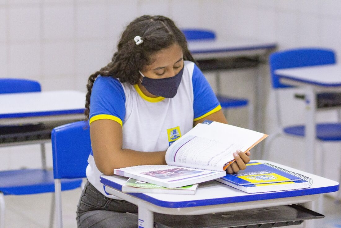 Estudante da rede municipal do Recife