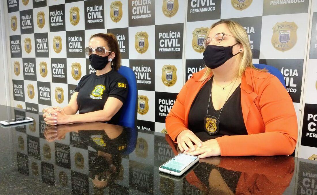 Delegadas apresentaram o caso em coletiva de imprensa, no Recife