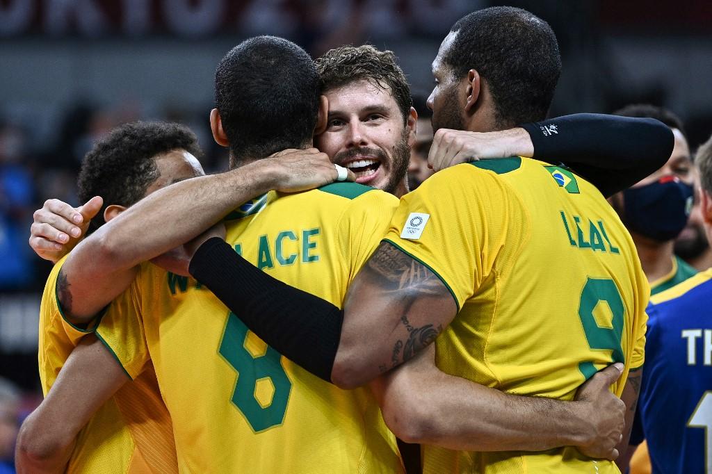 Brasil vence França por 3 sets a 2