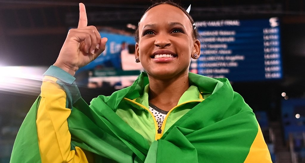 Rebeca Andrade, campeã olímpica no salto