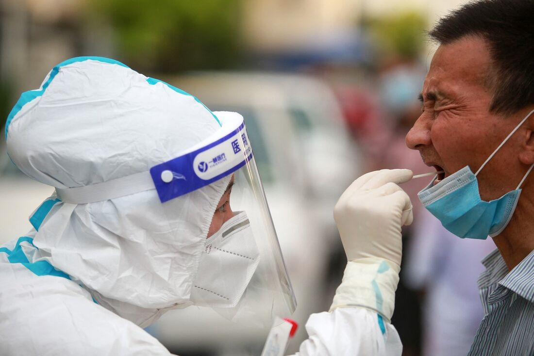 Testagem do coronavírus na China