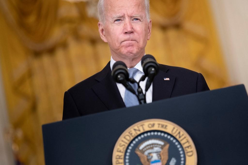 O presidente dos Estados Unidos, Joe Biden, faz pronunciamento sobre a retirada das tropas estadunidenses no Afeganistão
