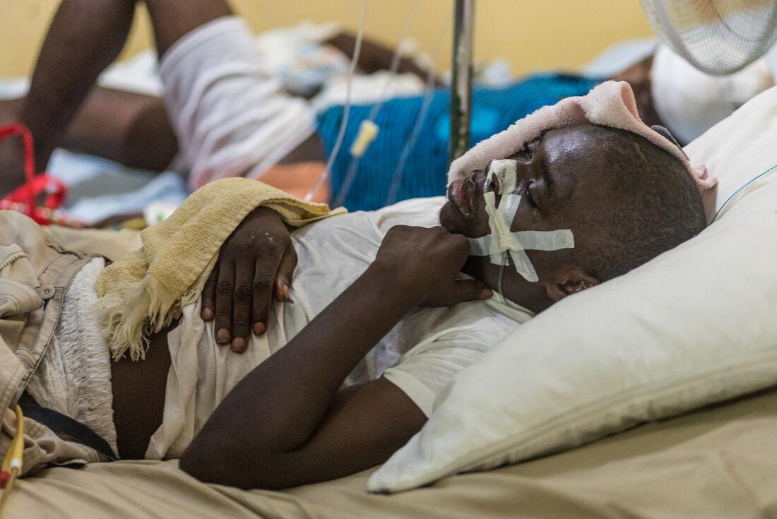 Resgatado do terremoto no Haiti
