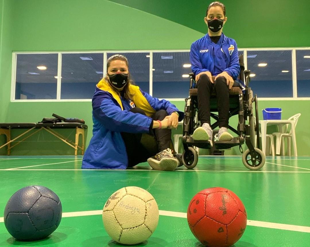 Andreza Vitória e Poliana Cruz, pernambucanas da bocha paralímpica